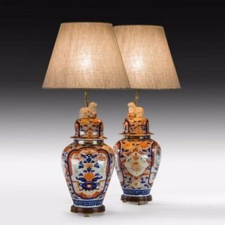 Vase and covers Imari period now converted in to lamps
