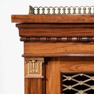 A late Regency coromandel side cabinet