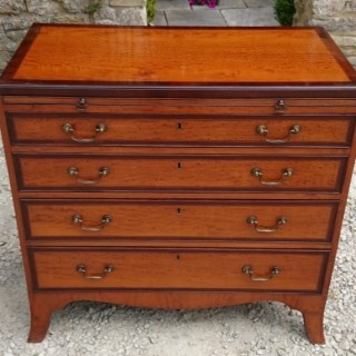 18th Century George III Period Satinwood Bachelor's Chest Of Drawers
