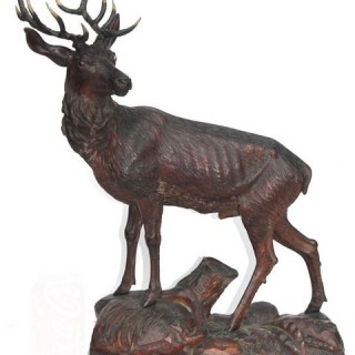 A fine late 19th century Black Forest stag