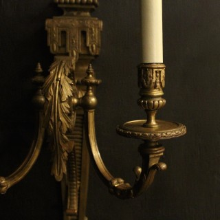 English 19th Century Gilded Wall Sconces