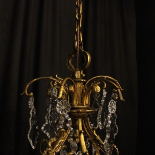 French Gilded Bronze 18 Light Antique Chandelier