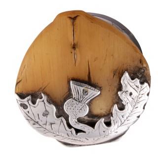 Scottish Horn & Silver Metal Snuff Mull