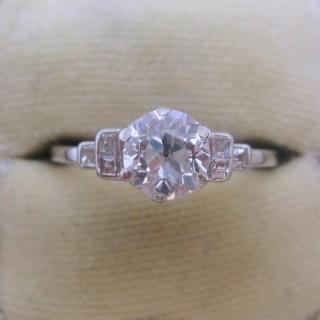 Platinum and Diamond Solitaire Ring 1 Carat.