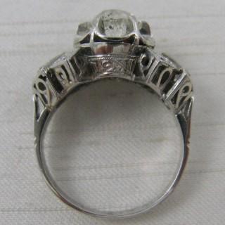 Art Deco 1.25 Carat Diamond Solitaire Engagement Ring