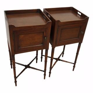 George IV Mahogany Bedside Cabinets