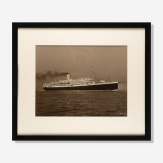 A Beken of Cowes albumen photos of the RMS Antares.