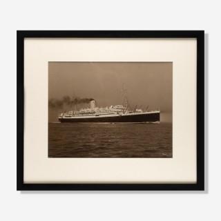 A Beken of Cowes albumen photos of the RMS Antares.