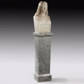 Marble Bust entitled 'Pharaoh's Daughter'
