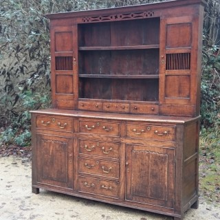 18th Century George II Period Antique Oak Dresser