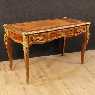 20th Century French Inlaid Writing Desk In Rosewood