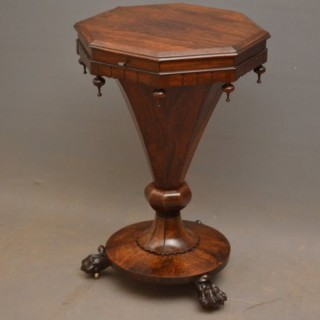 Fine William IV Rosewood Work Table