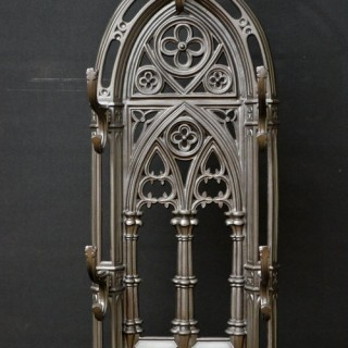Victorian Gothic Revival Cast Iron Hall Stand