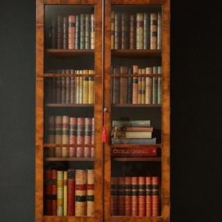 Exceptional Slim William IV Bookcase in Mahogany