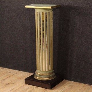 20th Century French Lacquered Column With Mirrors