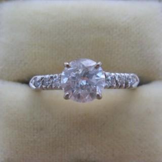 Art Deco Diamond Solitaire Ring 1 Carat