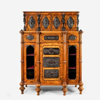 A superb quality burr walnut antique cabinet