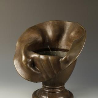 A large bronze art nouveau Jadiniere