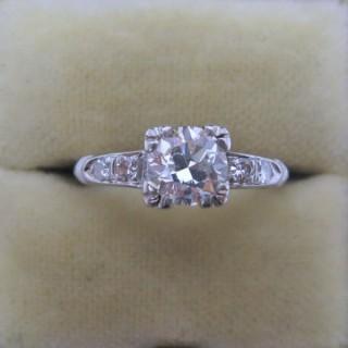 Art Deco Diamond Solitaire Ring