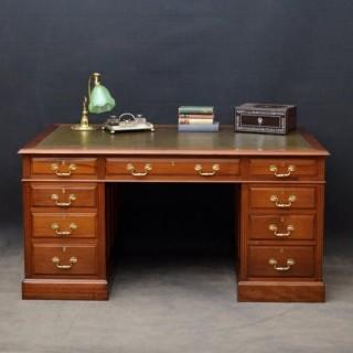 Large Early XX Century Mahogany Desk