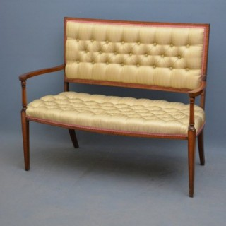 Elegant Edwardian Mahogany and Inlaid Sofa
