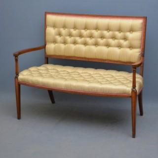 Elegant Edwardian Mahogany and Inlaid Sofa