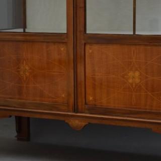 Elegant Art Nouveau Display Cabinet