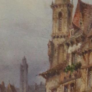 Felice Auguste Rezia.   Continental town scene.
