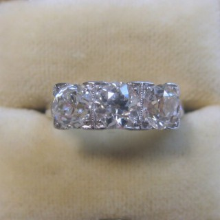 Vintage Three Stone Diamond Ring.