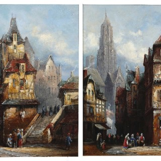 Henry Schafer.  Rouen and Abbeyville.  Pair
