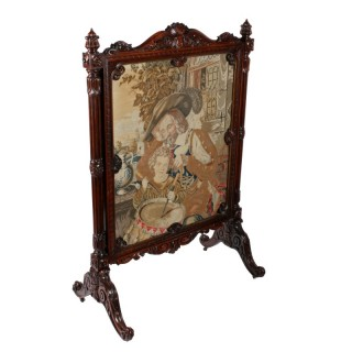 Fine Victorian Rosewood Screen