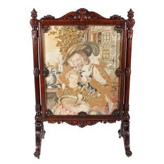 Fine Victorian Rosewood Screen