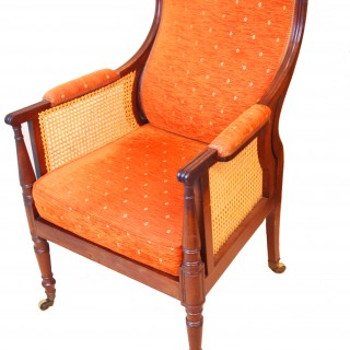 Antique Regency Mahogany Bergere Chair