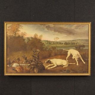 20th Century Italian Painting Hunting Scene