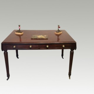 Georgian mahogany writing table.