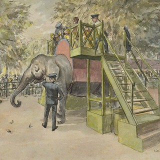 WILLIAM AUGUSTUS SILLINCE, RWS, RSBA (1906-1974) - The Elephant Ride