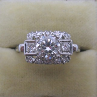 Art Deco Diamond Cluster Ring.