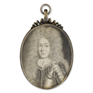 Portrait miniature of a Gentleman wearing armour, 1670s
