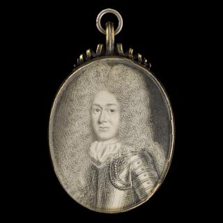 Portrait miniature of a Gentleman wearing armour, 1670s