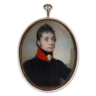 Portrait miniature of an Officer of Light Dragoons, c.1800-10