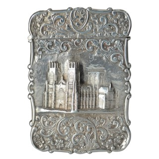 SILVER CASTLE TOP CARD CASE BY NATHANIEL MILLS