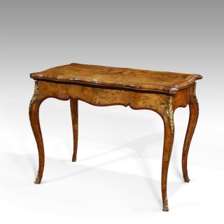 Stunning 19th century burr walnut card table