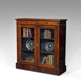 William IV rosewood display cabinet