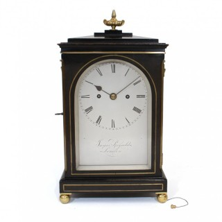 Fusee striking ebonised bracket clock, James Reynolds, London
