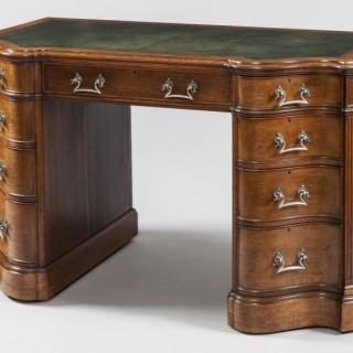 English  Oak Pedestal Desk