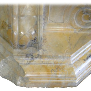Large pair of antique sienna marble brackets