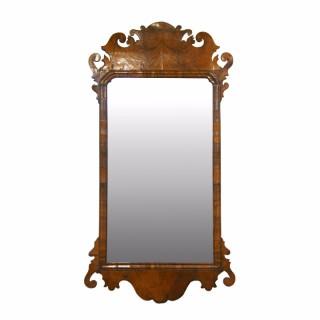 18th Century George II walnut wall mirror