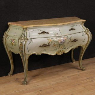 20th Century Venetian Lacquered And Painted Dresser