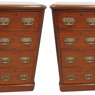 Pair of Victorian Mahogany Chest of Drawers