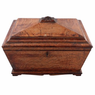 Victorian Oak Work Box